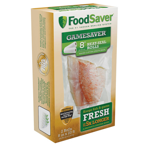 "FoodSaver GameSaver 8"" Heat-Seal Rolls - 2 Rolls"