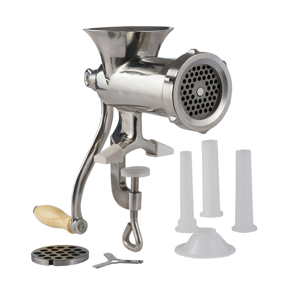 Hand Meat Grinders For Home Use ~ Stainless steel clamp on hand grinder lem products