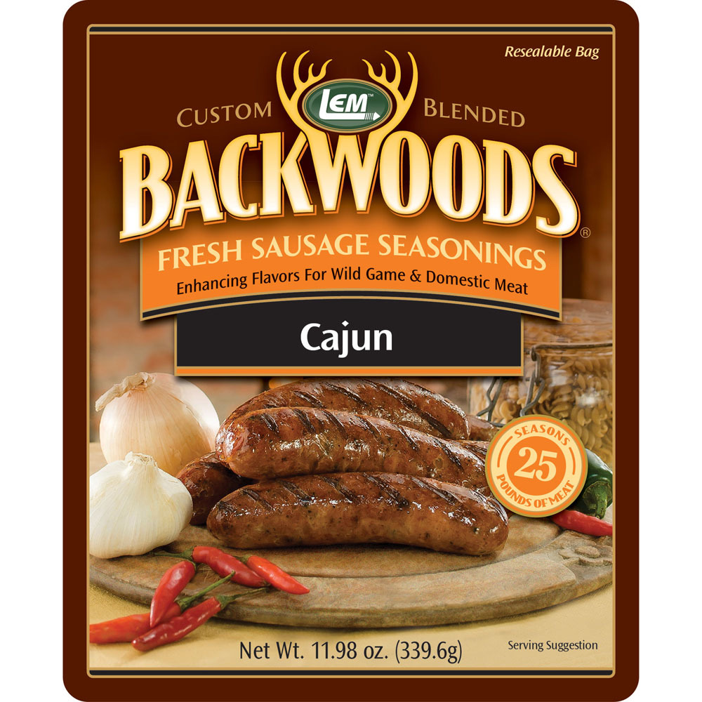 Backwoods Cajun Fresh Sausage Seasoning - Backwoods Cajun Seasoning Makes 25 lbs.