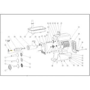 Schematic - # 32 Stainless Auger Stud - Fits Models 2007+