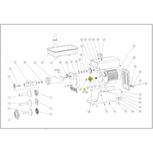 Schematic - Step Gear with 2 Bearings for # 22 Big Bite Grinder # 781