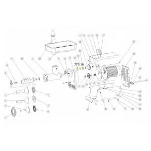 Schematic - Roller Bearing for # 5 Big Bite Grinder # 777