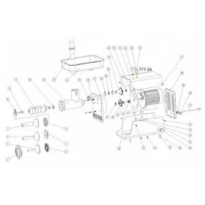 Schematic - Handle Screw for # 5 Big Bite Grinder # 777