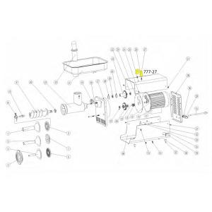 Schematic - Handle for # 5 Big Bite Grinder # 777