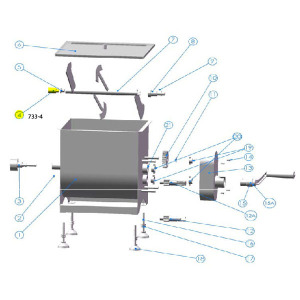 Axle Adjuster for 25 lb. Mixer 733 Schematic