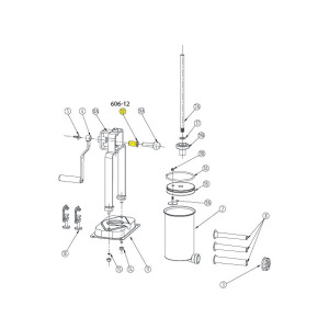 Schematic - Horizontal Gear Bushing for 5 lb. Vertical Stuffer # 606 & 606SS