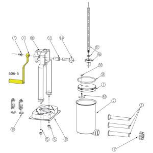Schematic - Handle for 5 lb. Vertical Stuffer # 606