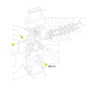 Schematic - Head Bolt for SS Vertical Tenderizer # 682