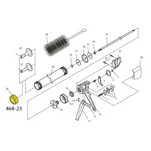Cannon Schematic - Retaining Ring - For Jerky Cannon Or Gun