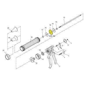 Gun Schematic - Plastic Piston - For Jerky Cannon or Gun