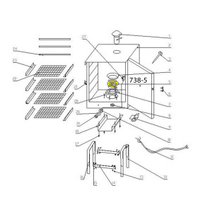 Schematic - Heater for 20 lb. Smoker # 738