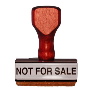 Not For Sale Stamp
