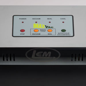 LEM New & Improved MaxVac Vacuum Sealer - Now With Manual Vacuum