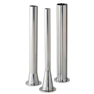 "Stainless Steel Stuffing Tubes With 1- 9/16"" Base"