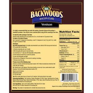 Backwoods Venison Bacon Seasoning Cure Nutritional Info