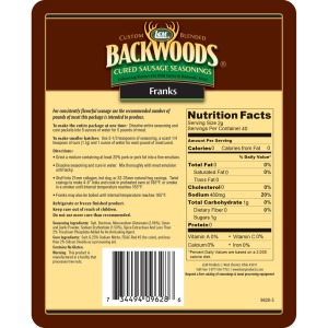 Backwoods Franks Cured Sausage Seasoning - Makes 5 lbs. - Directions & Nutritional Info