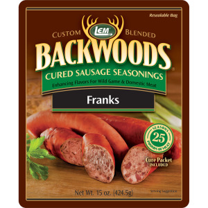 Backwoods Franks Cured Sausage Seasoning - Makes 25 lbs.