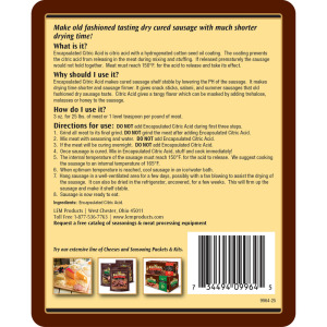 Encapsulated Citric Acid - 3 oz. For 25 Pounds Of Meat