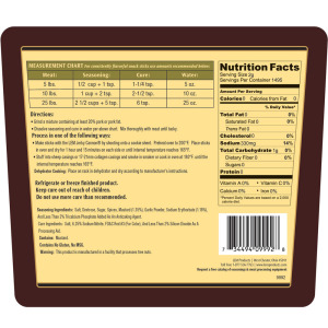 Backwoods Original Snack Stick Seasoning - Makes 100 lbs. - Directions & Nutritional Info