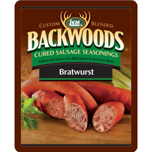 Backwoods Bratwurst Cured Sausage Seasoning - Backwoods Bratwurst Seasoning Makes 25 lbs.