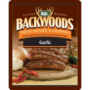 Backwoods Garlic Fresh Sausage Seasoning - Backwoods Garlic Seasoning Makes 5 lbs.