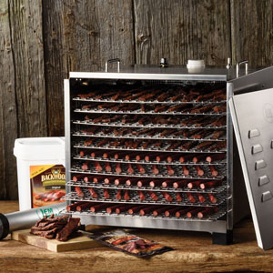 Big Bite Stainless Steel Dehydrator with 12 Hour Timer Display