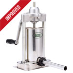 5 lb. Stainless Steel Stuffer with Stainless Steel Tubes