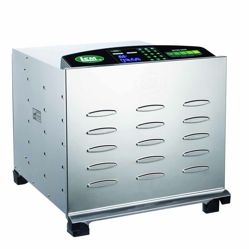 Big Bite Digital Stainless Steel Dehydrator - Big Bite Digital SS Dehydrator with Chrome Plated Trays