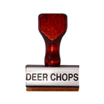 Deer Chops Stamp