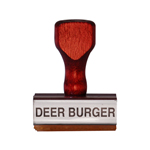Deer Burger Stamp